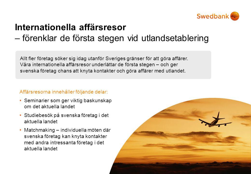 Internationella affärsresor – förenklar de första stegen vid utlandsetablering Allt fler företag söker sig idag utanför Sveriges gränser för att göra affärer.