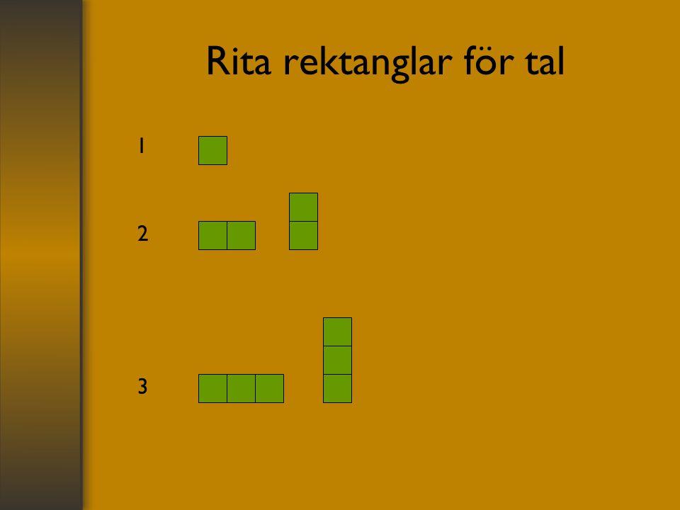 Rita rektanglar för tal 1 2 3