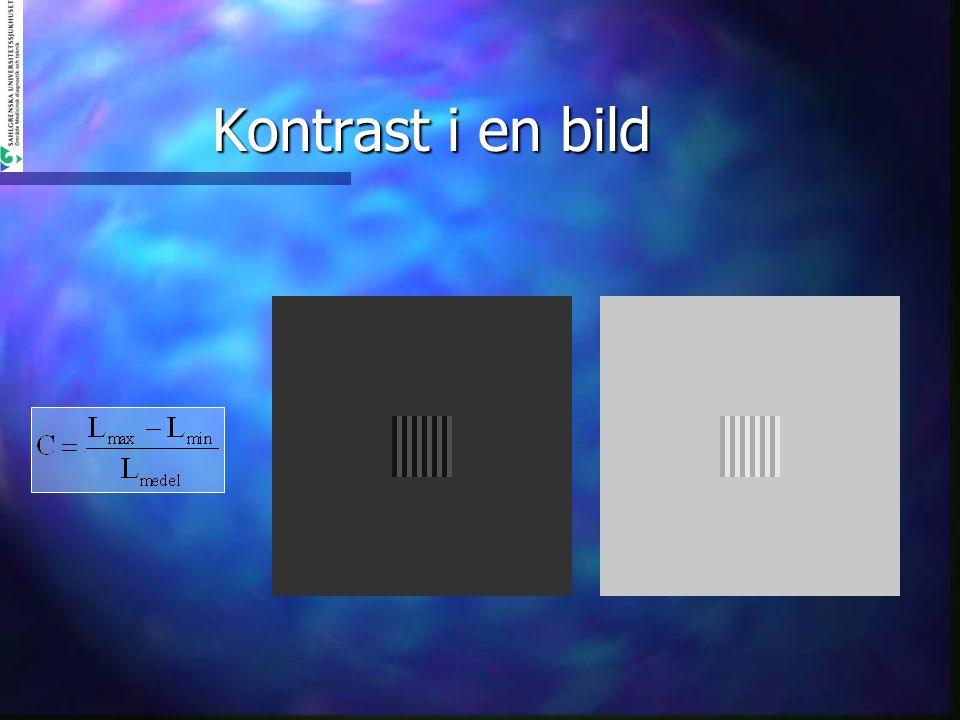 Betydelsen av ljusstarka skärmar Exempel: Min luminans 1,5 cd/m 2 n 120 cd/m 2 ger 411 jnd (1,61 per p-värde) n 220 cd/m 2 ger 496 jnd (1,94 per p-värde) n 320 cd/m 2 ger 550 jnd (2,16 per p-värde) Exempel: Min luminans 0,5 cd/m 2 n 120 cd/m 2 ger 454 jnd (1,78 per p-värde) n 220 cd/m 2 ger 539 jnd (2,11 per p-värde) n 320 cd/m 2 ger 593 jnd (2,32 per p-värde)