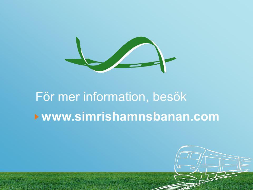 För mer information, besök www.simrishamnsbanan.com