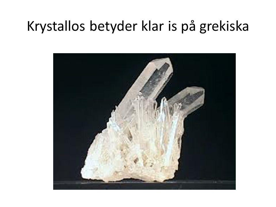 Mineraler som bildar jordskorpan innehåller kristaller.