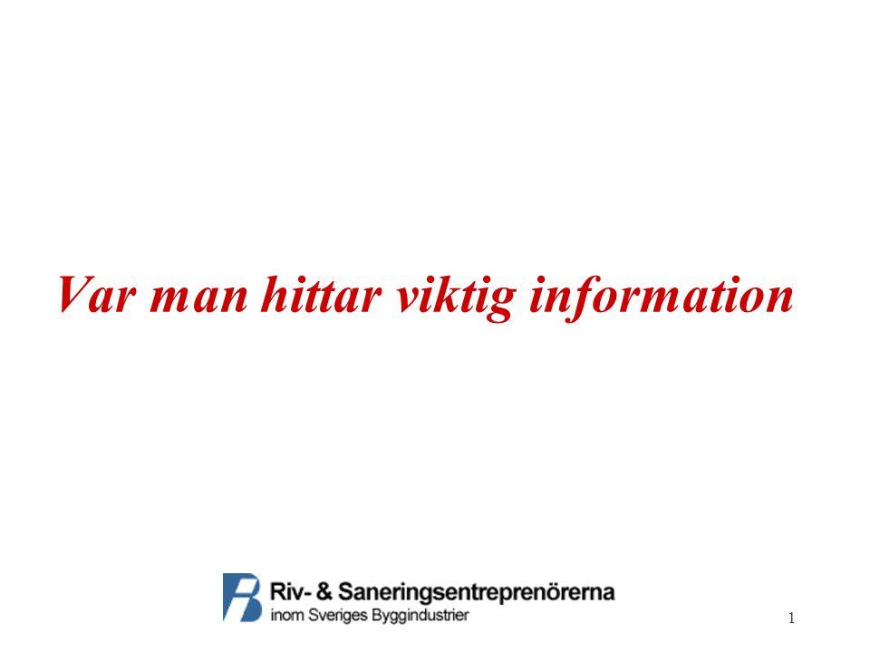 1 Var man hittar viktig information