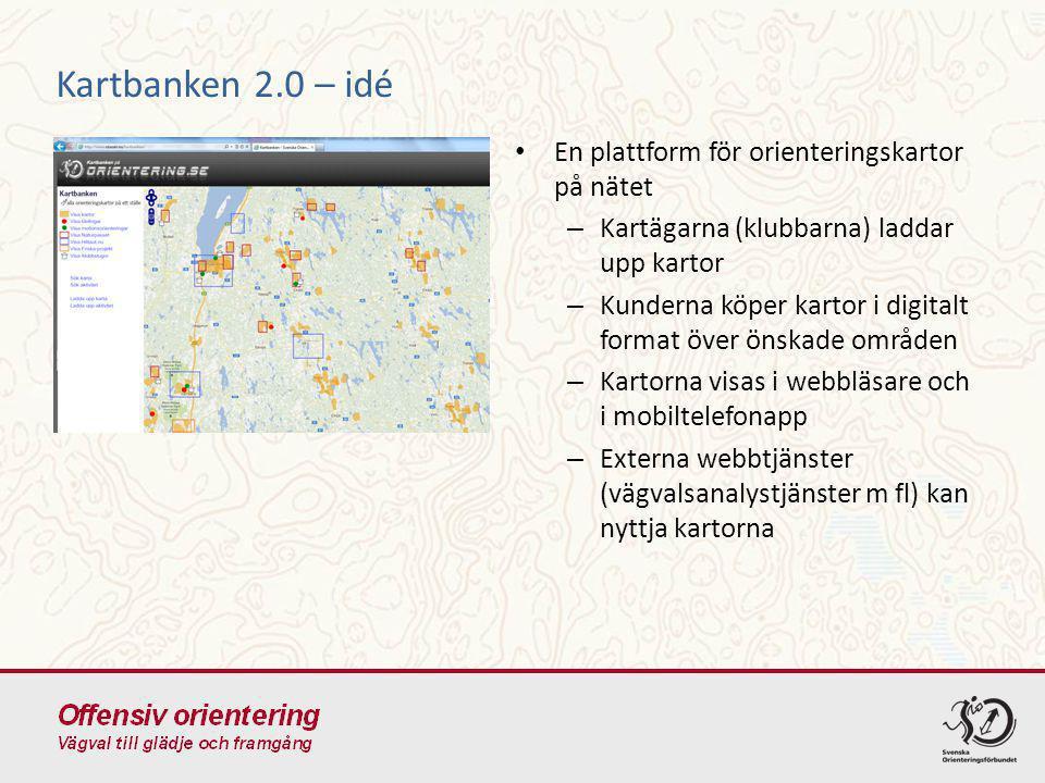 En plattform för orienteringskartor på nätet – Kartägarna (klubbarna) laddar upp kartor – Kunderna köper kartor i digitalt format över önskade områden