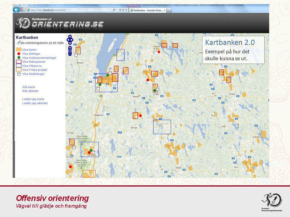 Kartbanken 2.0 Exempel på hur det skulle kunna se ut.
