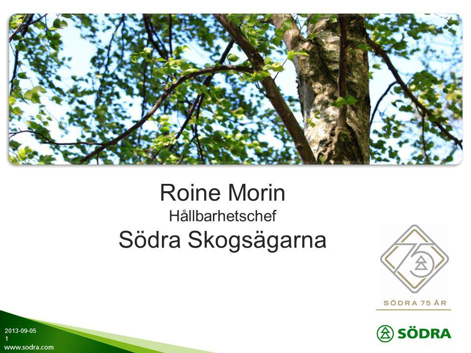 Roine Morin Hållbarhetschef Södra Skogsägarna 2013-09-05 1