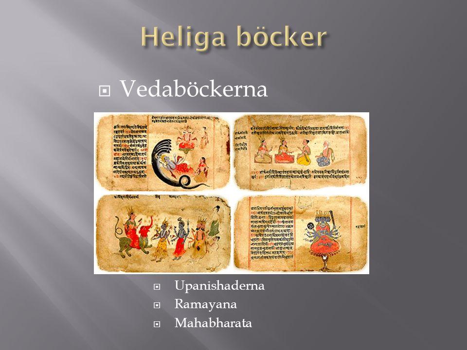  Vedaböckerna  Upanishaderna  Ramayana  Mahabharata