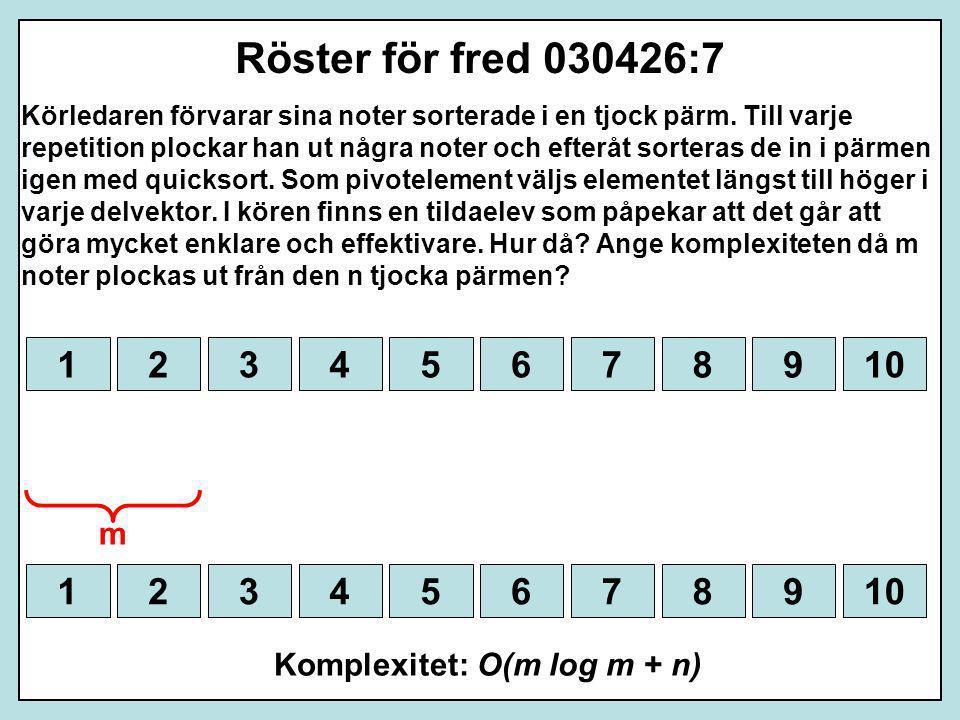 Röster för fred 030426:7 Körledaren förvarar sina noter sorterade i en tjock pärm. Till varje repetition plockar han ut några noter och efteråt sorter