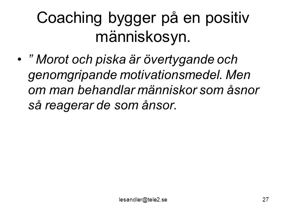 lesandler@tele2.se27 Coaching bygger på en positiv människosyn.