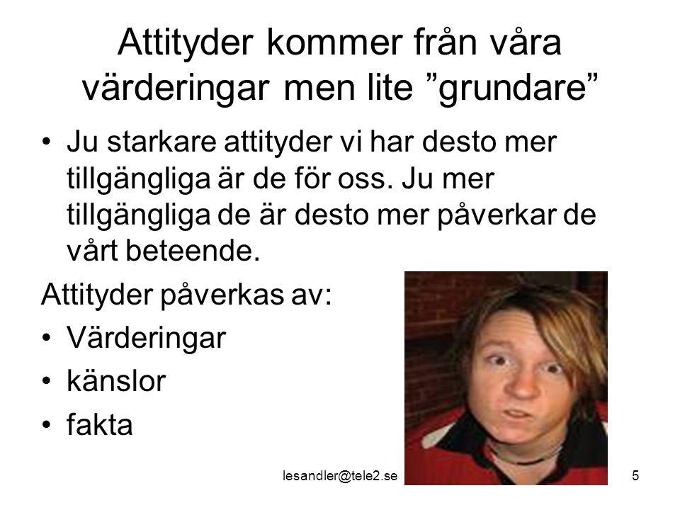 lesandler@tele2.se16 Sören Kirkegaard (1964) Om det verkligen ska lyckas att leda en viss människa mot ett mål, måste man främst finna henne där hon är och börja där.