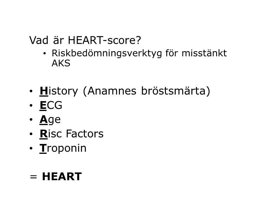 Vad är HEART-score.