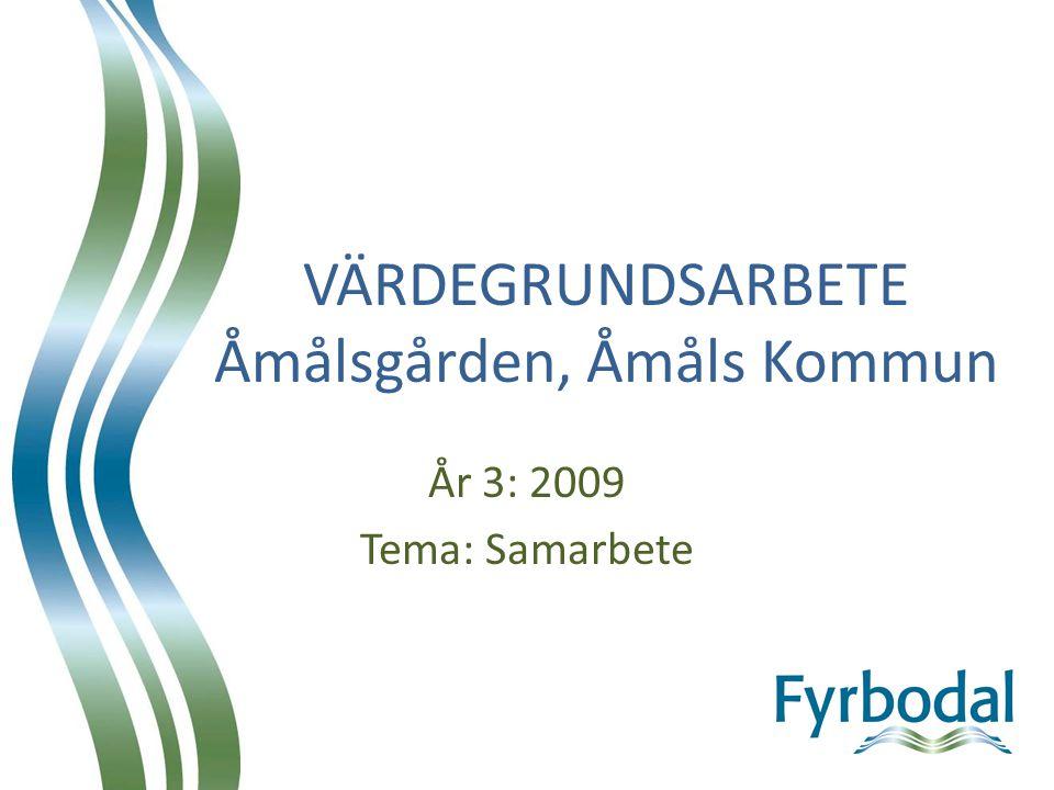 VÄRDEGRUNDSARBETE Åmålsgården, Åmåls Kommun År 3: 2009 Tema: Samarbete