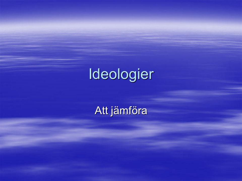 Ideologier Att jämföra