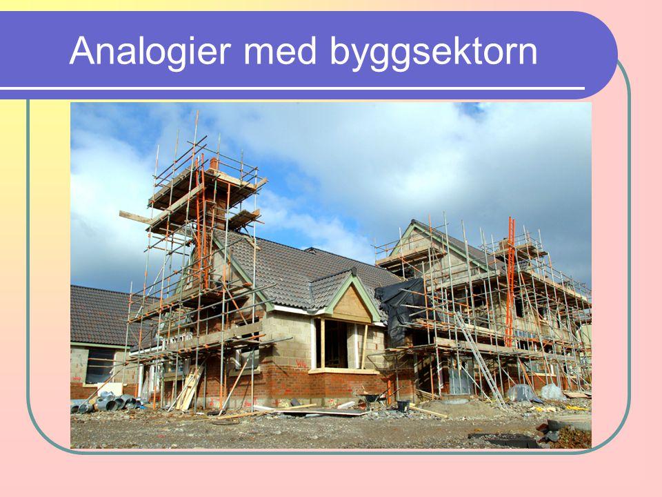 Analogier med byggsektorn