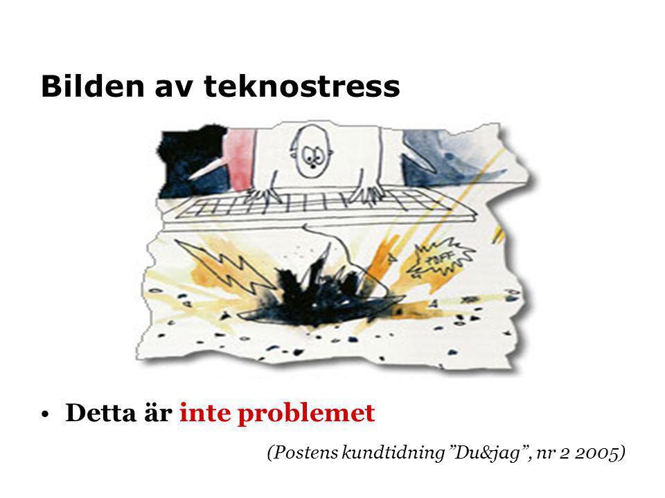 """Bilden av teknostress Detta är inte problemet (Postens kundtidning """"Du&jag"""", nr 2 2005)"""
