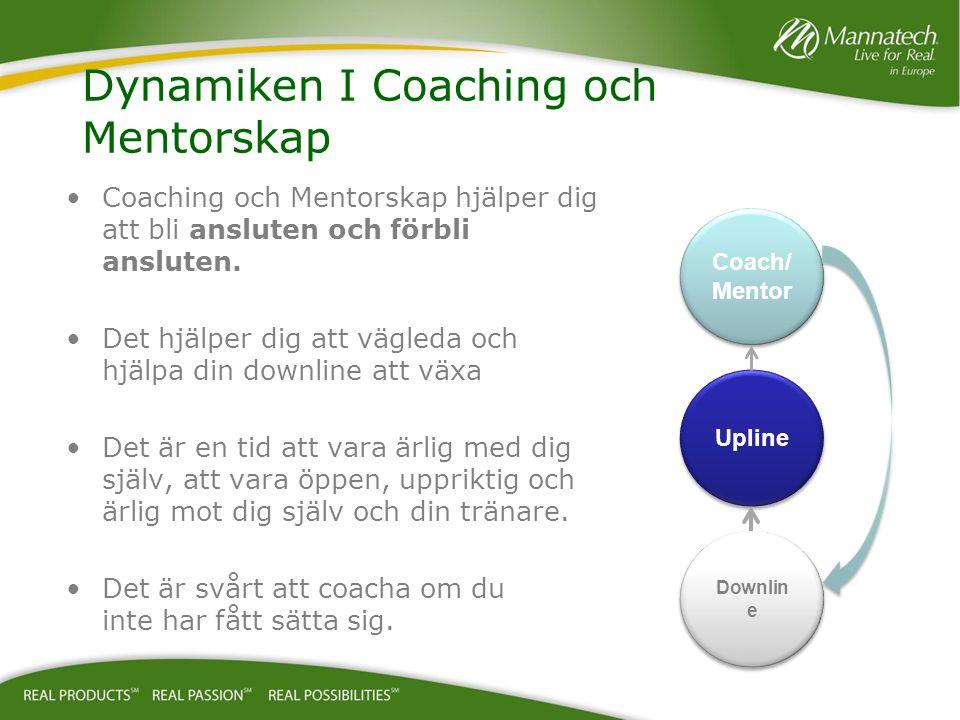 Coaching och Mentorskap hjälper dig att bli ansluten och förbli ansluten. Det hjälper dig att vägleda och hjälpa din downline att växa Det är en tid a