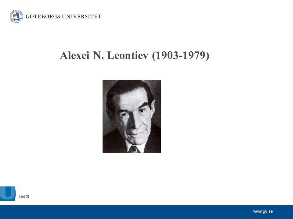 www.gu.se Alexei N. Leontiev (1903-1979)