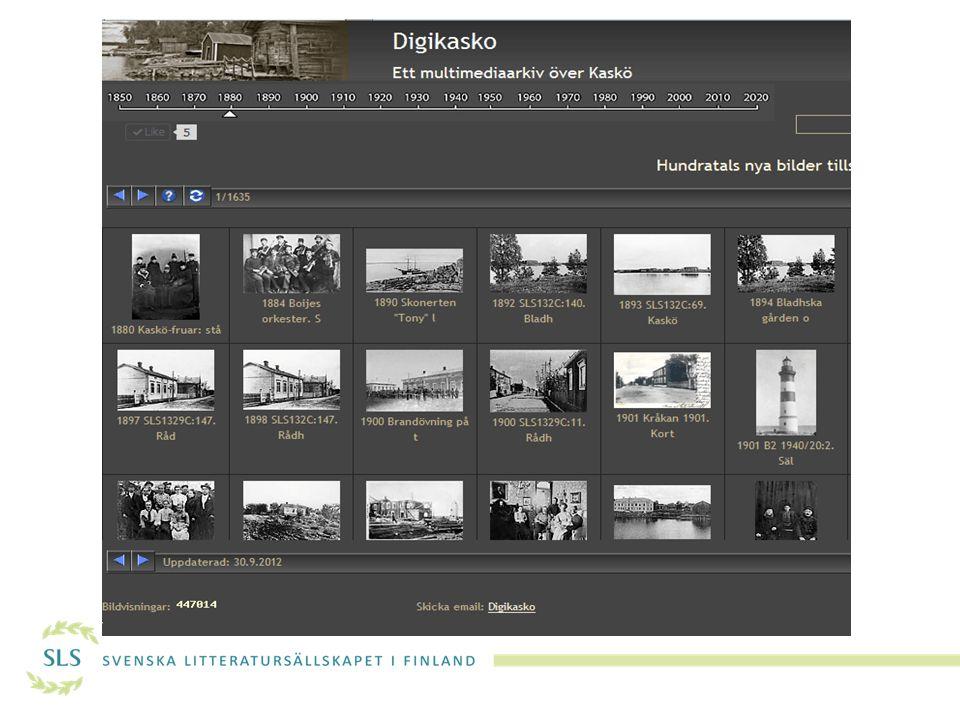 DIGITALISERING Att säkra och tillgängliggöra lokalt digitalt kulturarv  Lokala minnesorganisationer, arkiv och museer även bibliotek satsar idag allt mer på att digitalisera sina arkiv och samlingar.