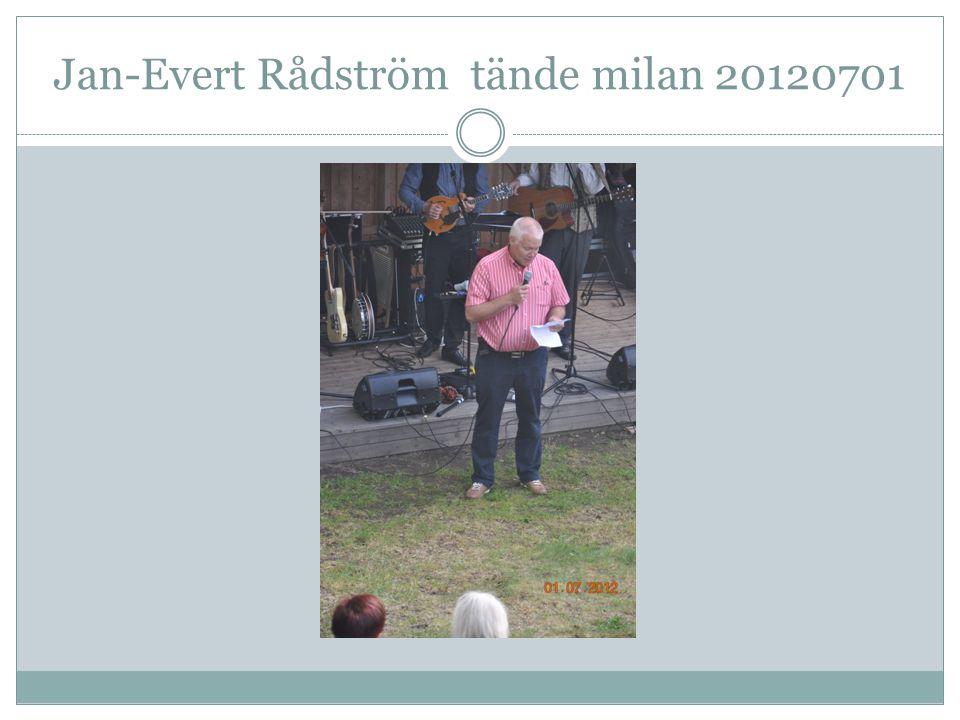 Jan-Evert Rådström tände milan 20120701