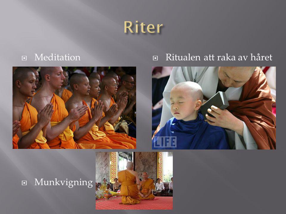  Meditation  Munkvigning  Ritualen att raka av håret