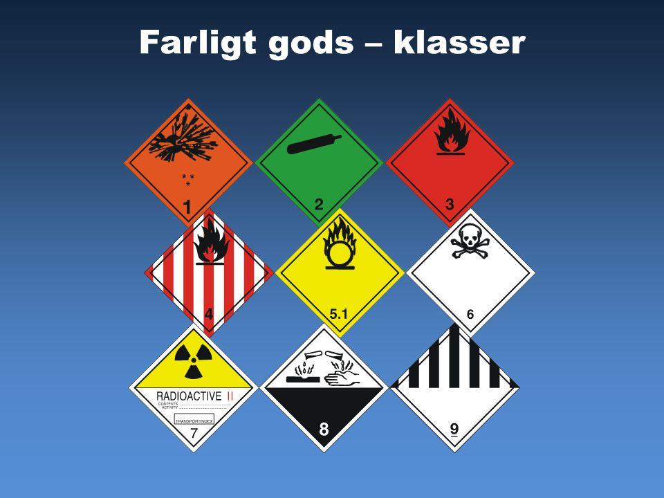 Farligt gods – klasser