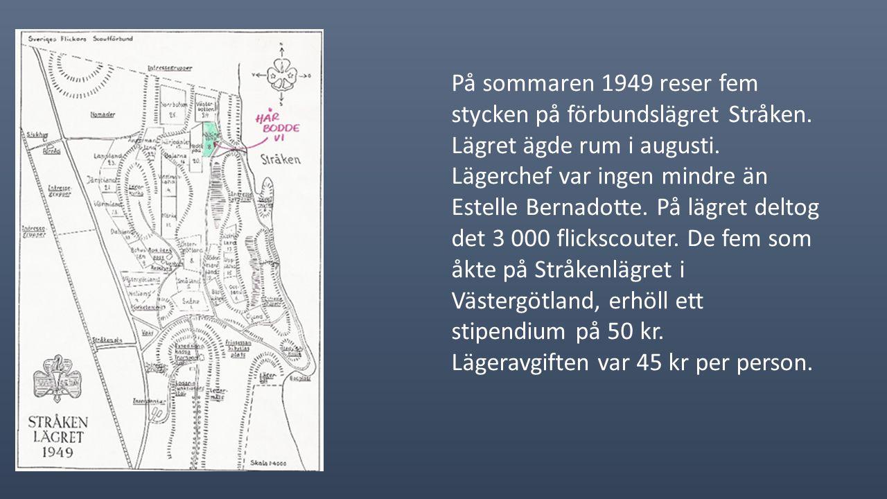 Gurli Svensson I juli 1948 åker en st. från kåren till Storlien/Enafors på Fjällfärd.