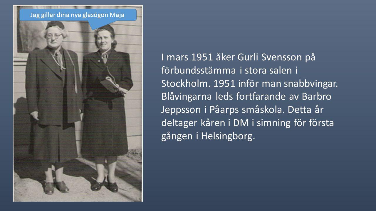 År 1950 blir Barbro Jeppsson tillsammans med Margareta Jönsson ledare för blåvingarna.