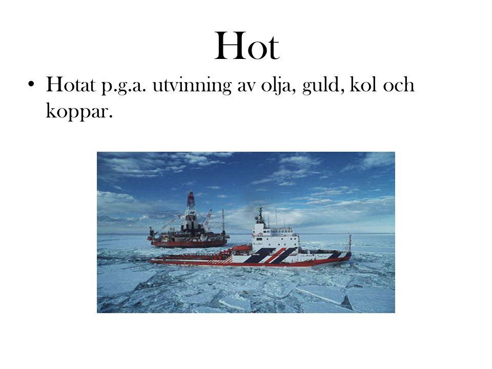 Hot Hotat p.g.a. utvinning av olja, guld, kol och koppar.