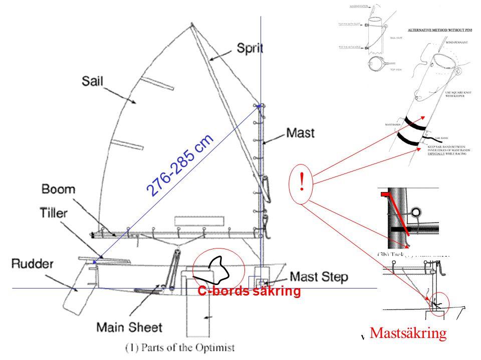 ! Mastsäkring 276-285 cm C-bords säkring