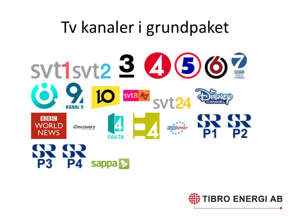 Tv kanaler i grundpaket