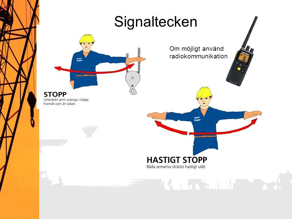 Signaltecken Om möjligt använd radiokommunikation