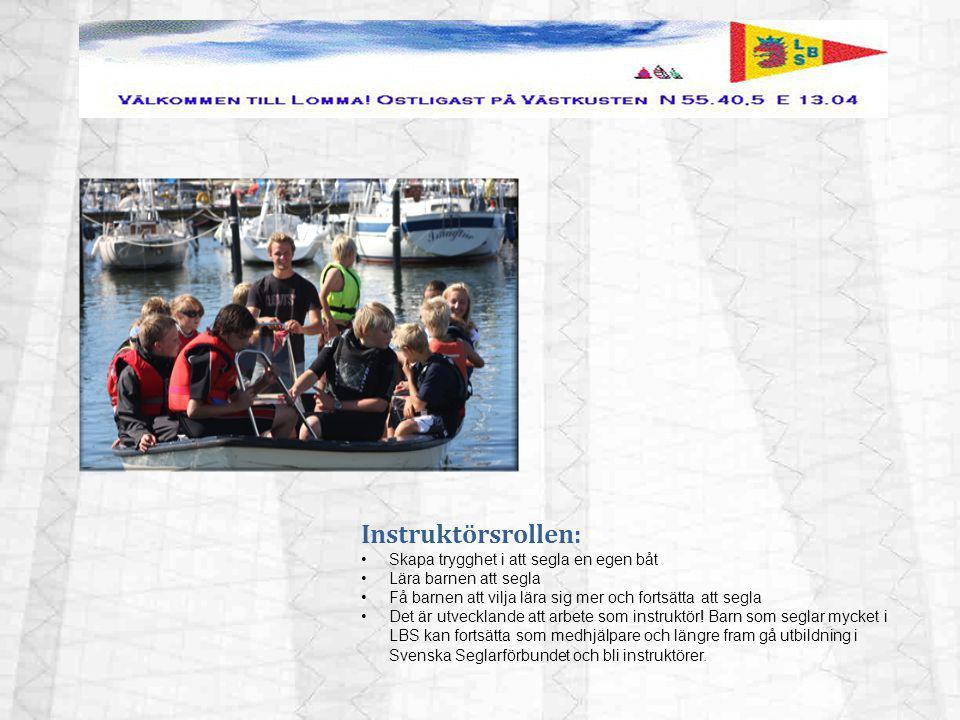 Instruktörsrollen: Skapa trygghet i att segla en egen båt Lära barnen att segla Få barnen att vilja lära sig mer och fortsätta att segla Det är utveck