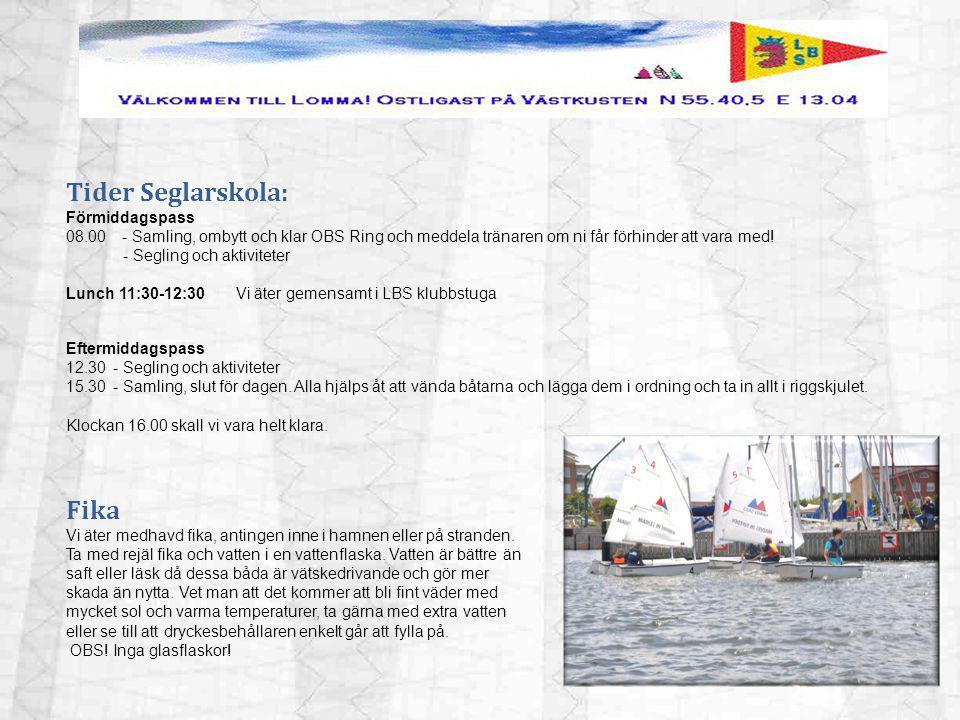 Efter seglarskolan Om man efter seglarskolan vill fortsätta segla optimist anmäler man sig till Lomma Sailing Team.