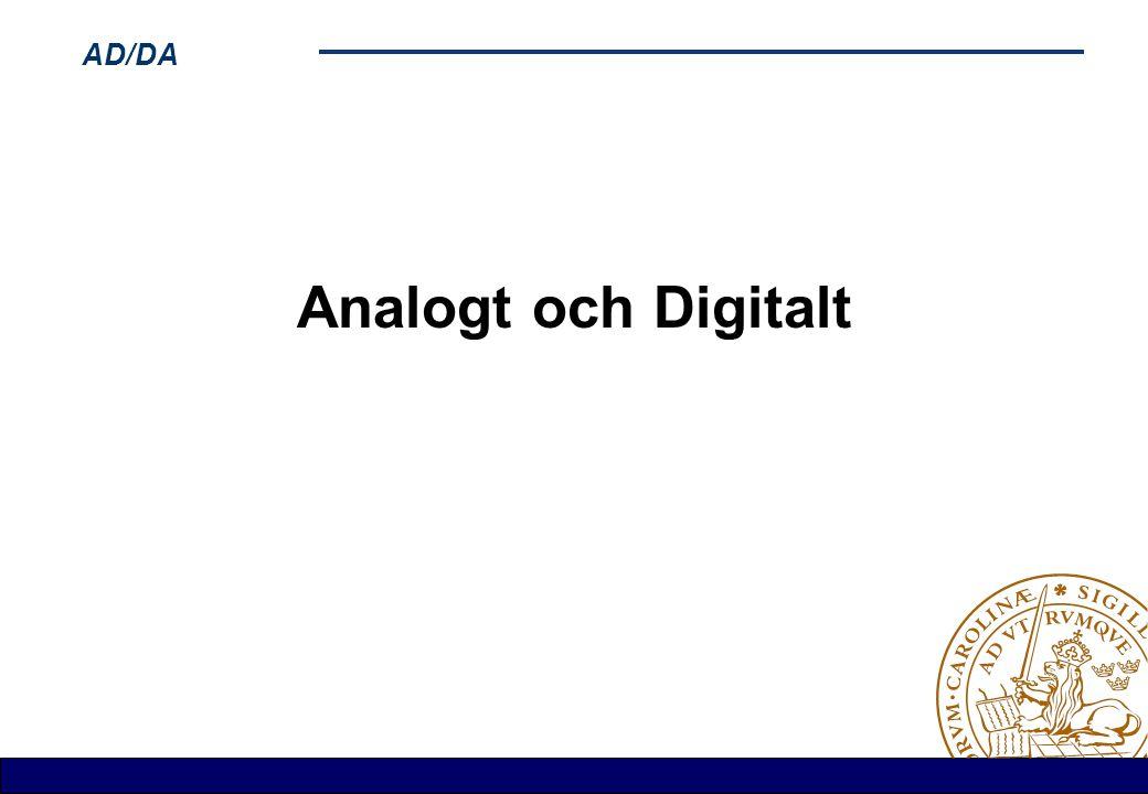 AD/DA Analogt och Digitalt