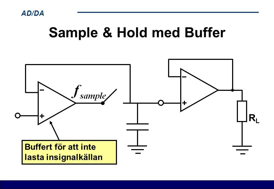 AD/DA Sample & Hold med Buffer RLRL Buffert för att inte lasta insignalkällan
