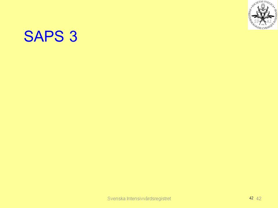 42 SAPS 3 Svenska Intensivvårdsregistret42