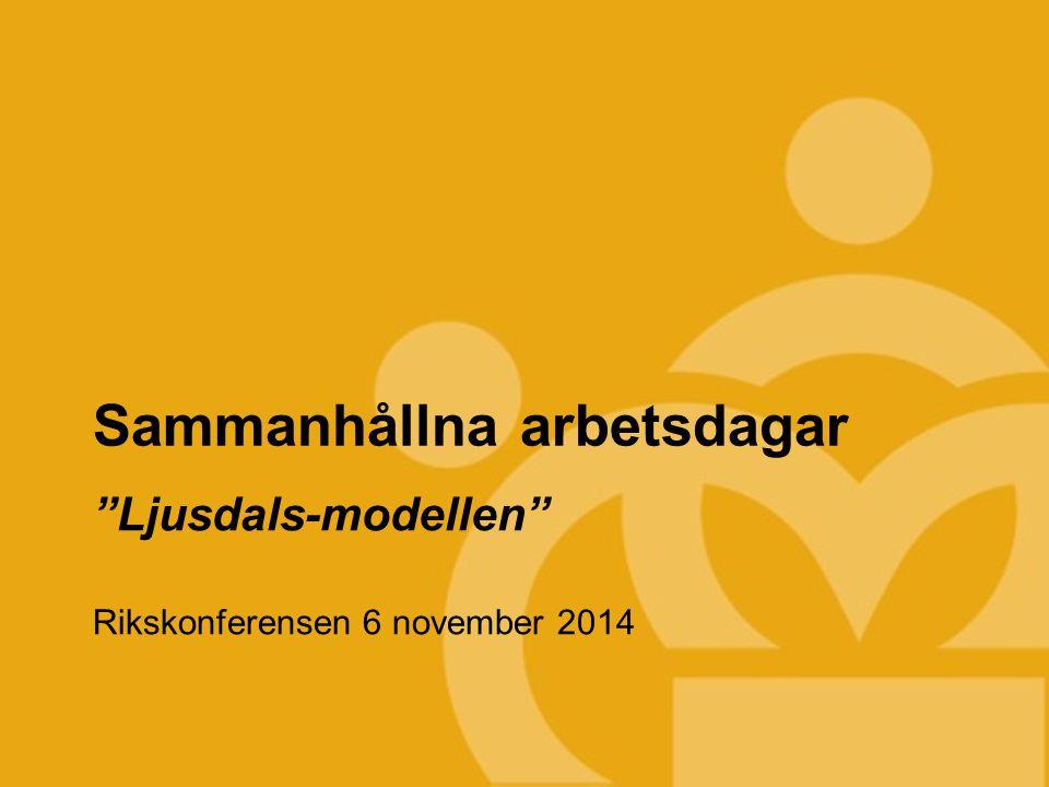 TEKNIKCOLLEGE Sammanhållna arbetsdagar Ljusdals-modellen Rikskonferensen 6 november 2014