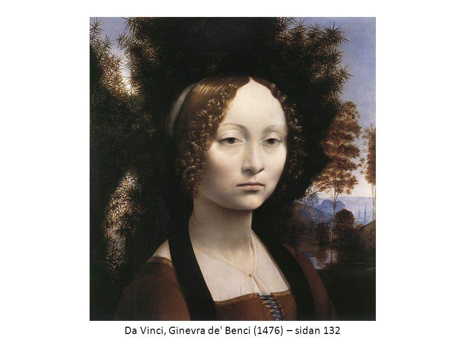 Da Vinci, Ginevra de' Benci (1476) – sidan 132