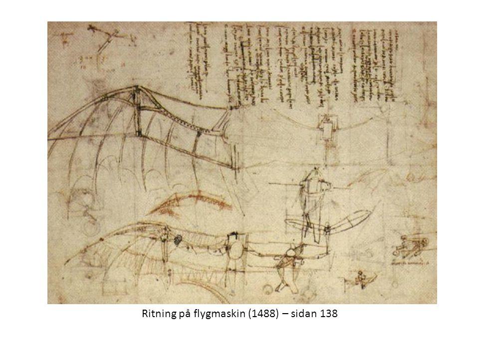 Ritning på flygmaskin (1488) – sidan 138
