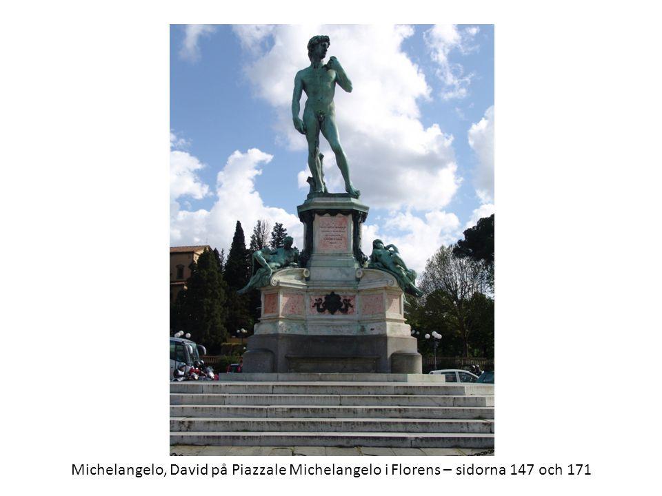 Michelangelo, David på Piazzale Michelangelo i Florens – sidorna 147 och 171