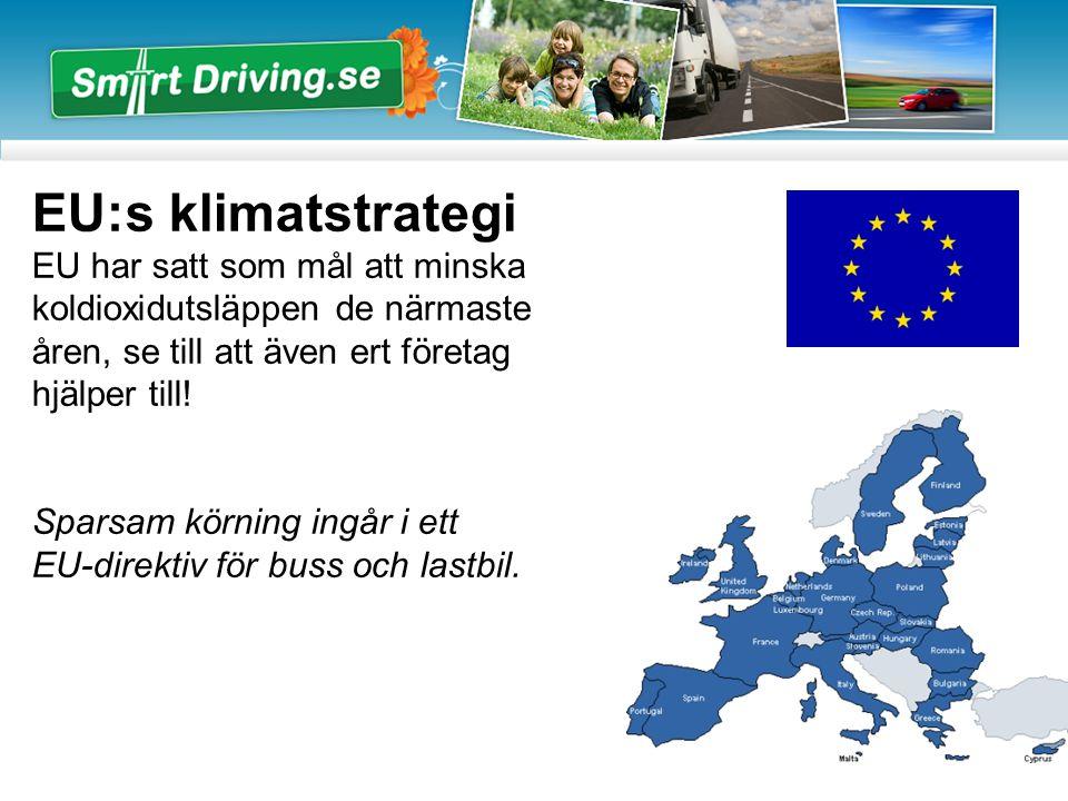 EU:s klimatstrategi EU har satt som mål att minska koldioxidutsläppen de närmaste åren, se till att även ert företag hjälper till.
