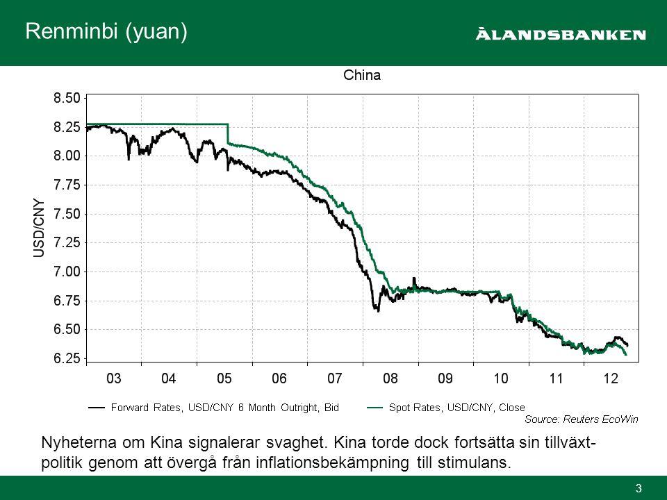 4 Räntor och räntor Nuläget i euroområdet är inte stabilt och beslutsångesten kan leda till globalt finanskaos.