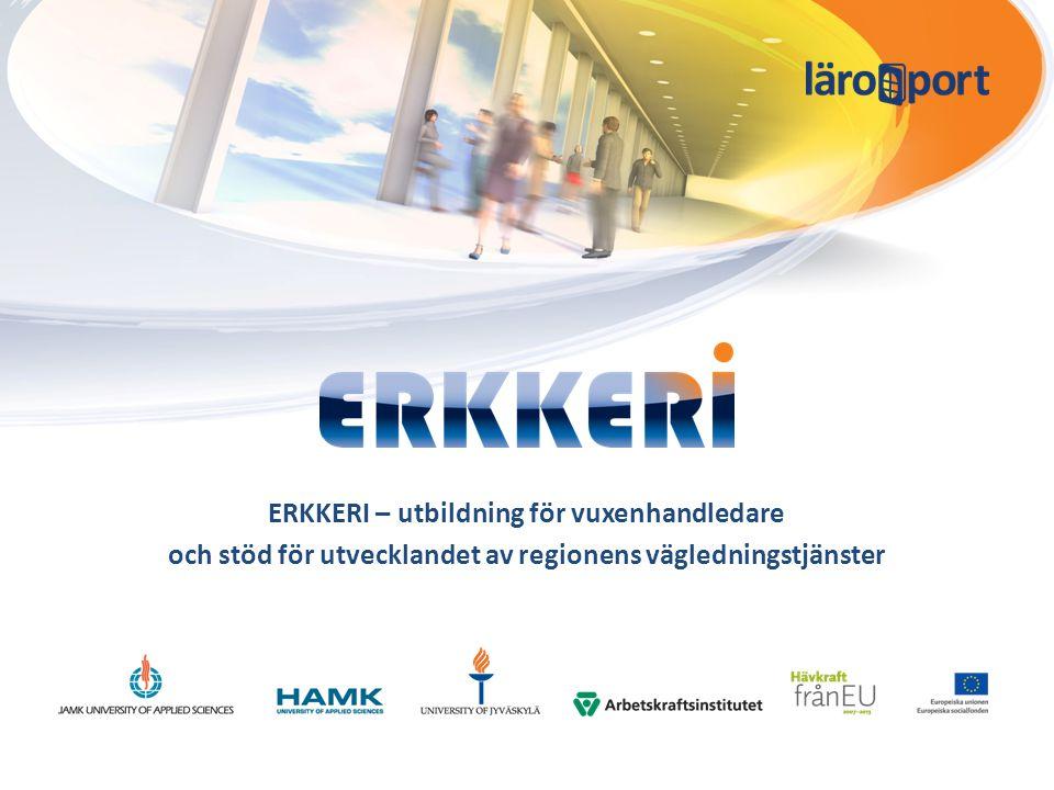 ERKKERI – utbildning för vuxenhandledare och stöd för utvecklandet av regionens vägledningstjänster