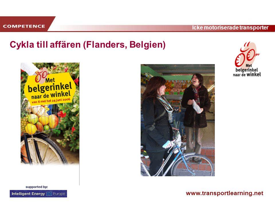 www.transportlearning.net Icke motoriserade transporter Cykla till affären (Flanders, Belgien)