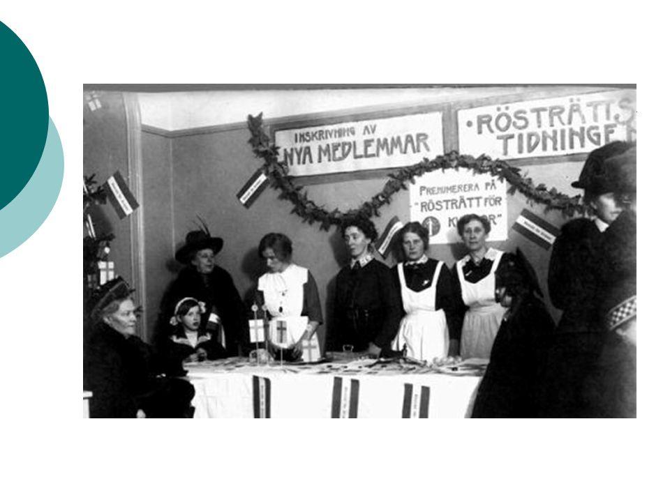 Demokratin i Sverige Två partier, socialdemokraterna och liberalerna, drev frågan om rösträtt för alla År 1921 fick (nästan) alla män och kvinnor rösta för första gången i Sverige Tidigare fick bara de män som var rika rösta.