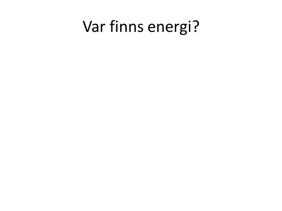 Var finns energi?