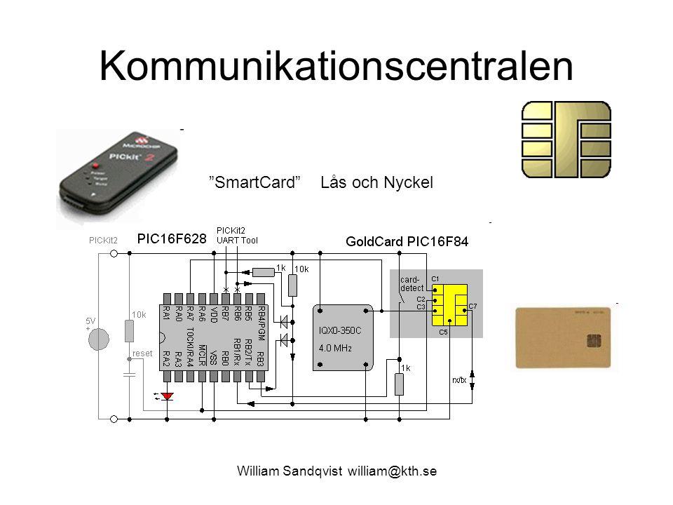 """William Sandqvist william@kth.se Kommunikationscentralen """"SmartCard"""" Lås och Nyckel"""