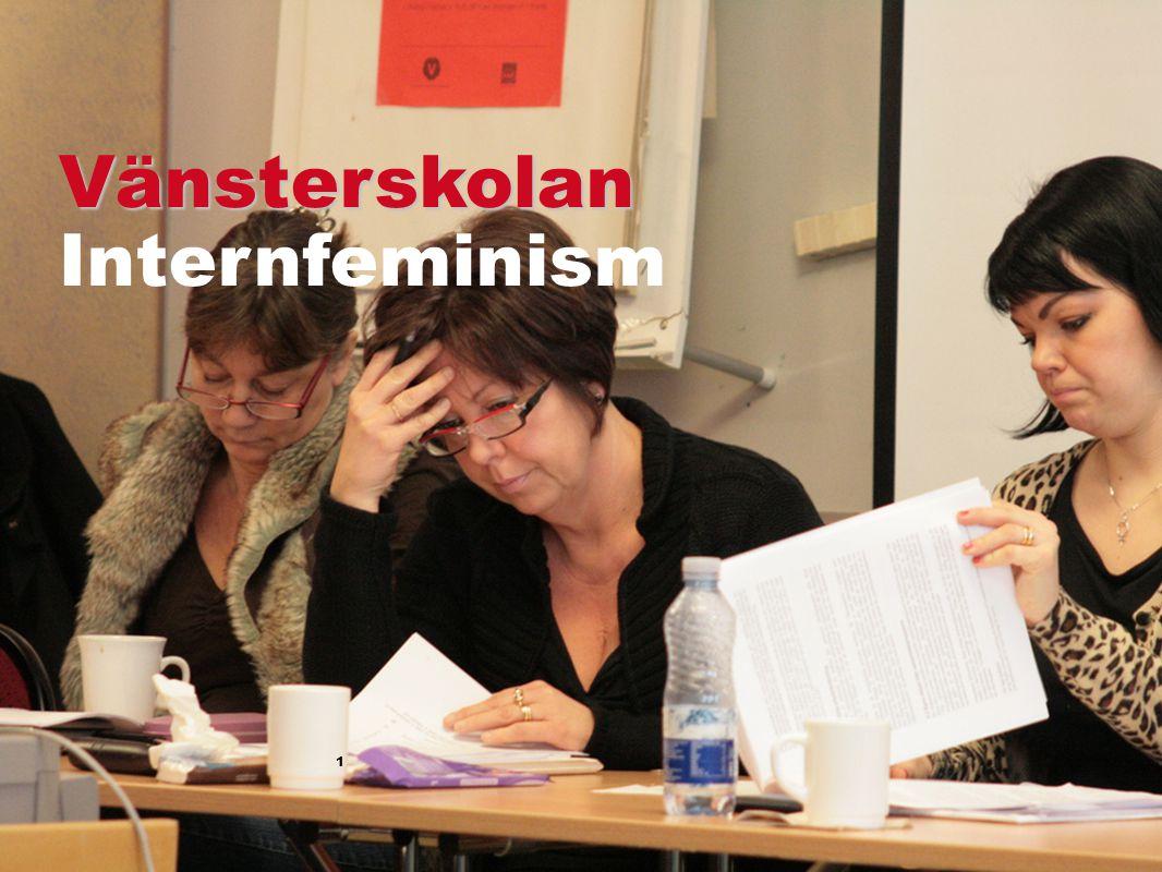 2 Vänsterpartiet är ett feministiskt parti Ser könsmaktsordningen och vill upphäva den Kön ska inte spela någon roll…