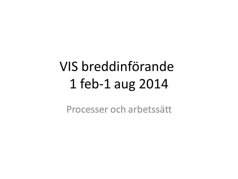 VIS breddinförande 1 feb-1 aug 2014 Processer och arbetssätt