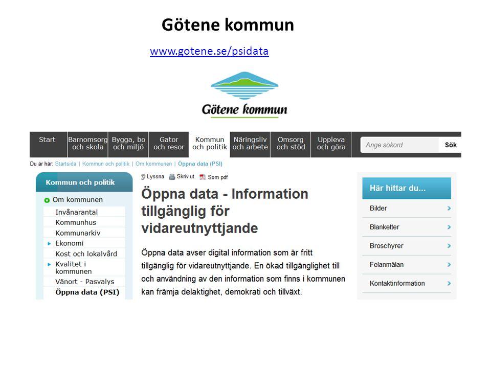 Götene kommun www.gotene.se/psidata