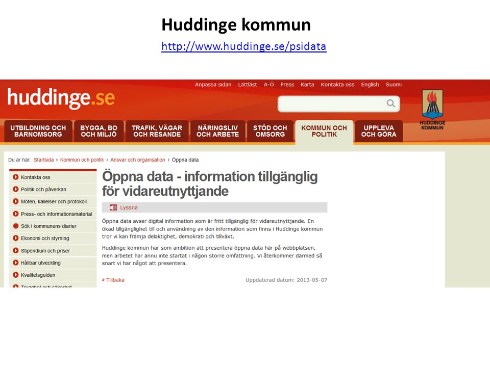 Huddinge kommun http://www.huddinge.se/psidata